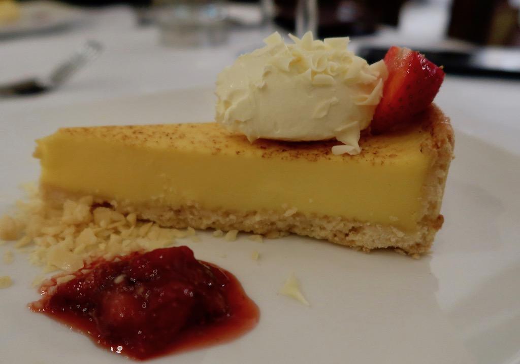 Whately Hall Hotel lemon tart
