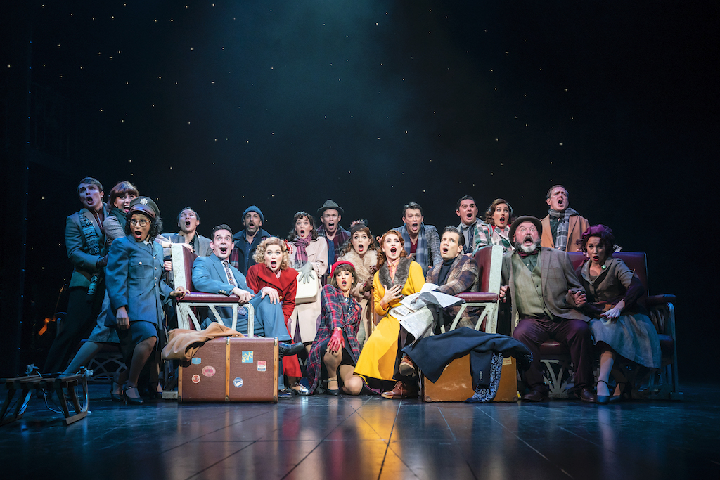 WHITE CHRISTMAS THE MUSICAL. The Company. Photo Johan Persson
