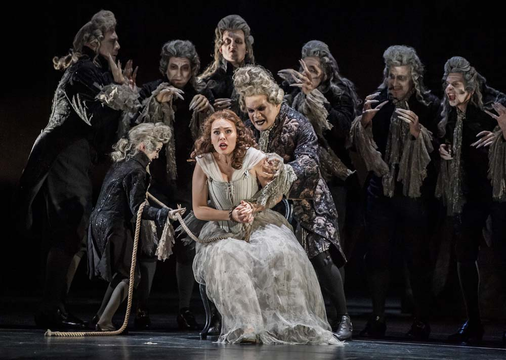 Pamina and Monostatos in Magic Flute at the Royal Opera House
