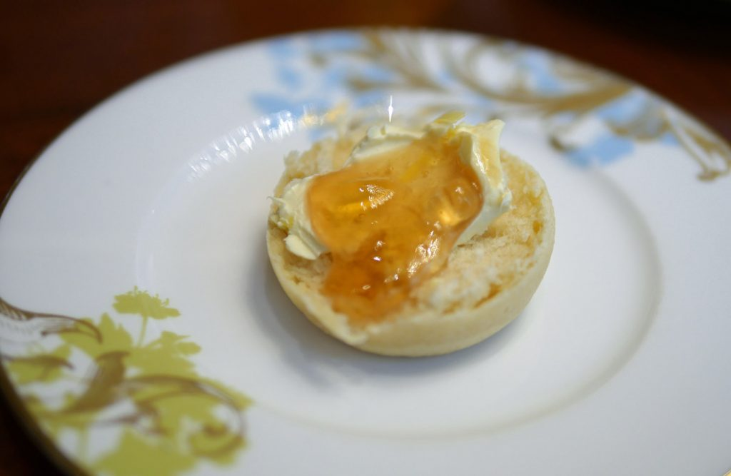 Mandarin Oriental Scone with Cream and Rosepetal Jam
