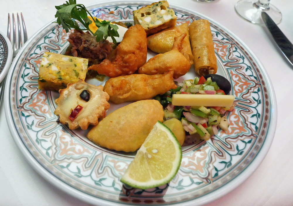 Mezze - Dar Belhadj Restaurant Tunis, Tunisia