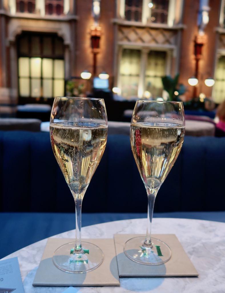 Perrier Jouët champagne - St Pancras Renaissance Hotel