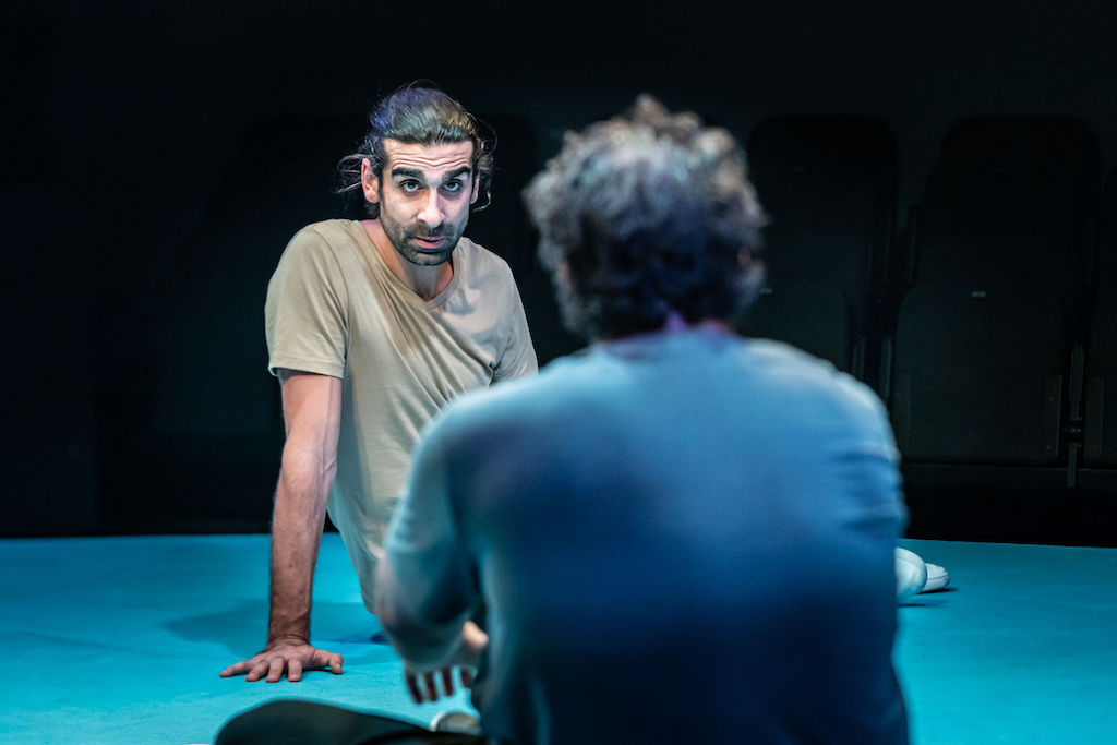 Scott Karim (Tom) in 'The Arrival' at Bush Theatre. Photo by Marc Brenner. PROD-148