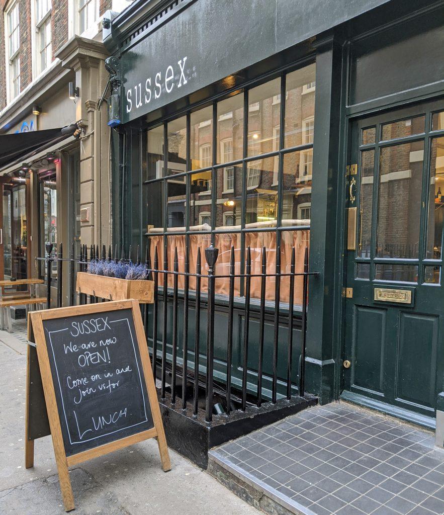 Sussex Restaurant Soho