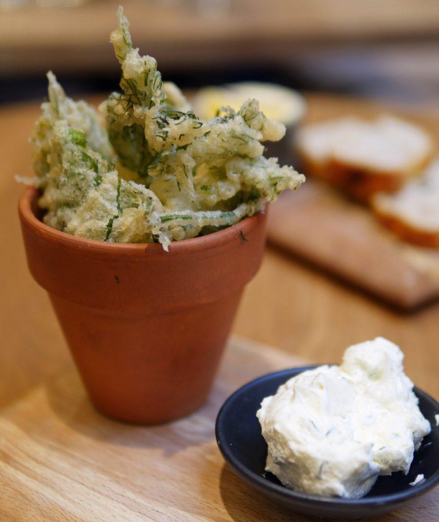 Tempura Herbs - Sussex Restaurant