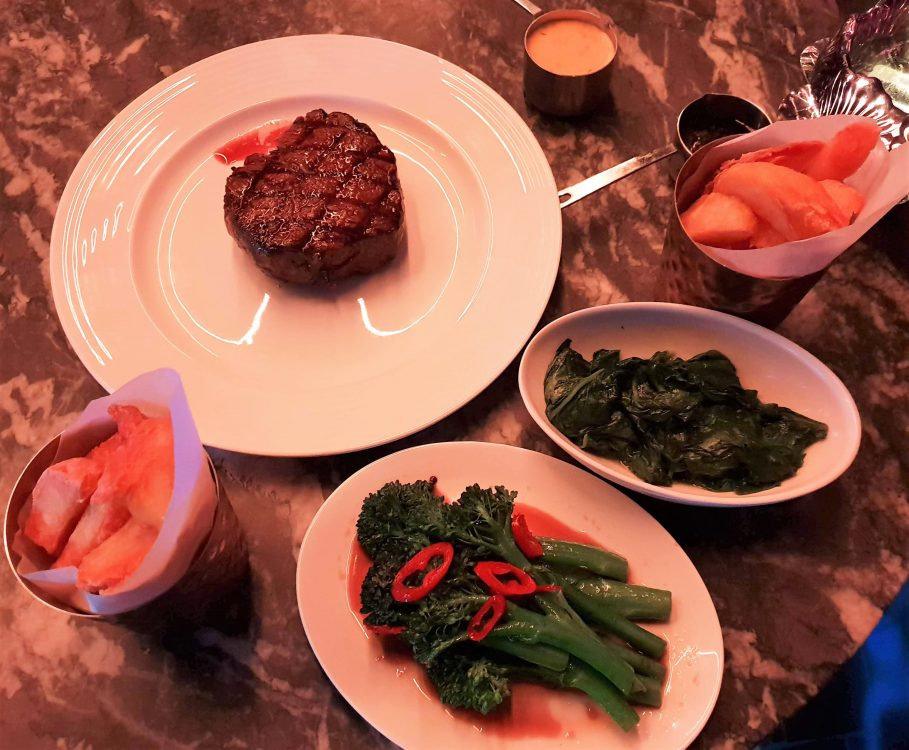 The Wellington, Fillet steak and triple cooked chips-