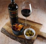 Wine with Olives and Crisps