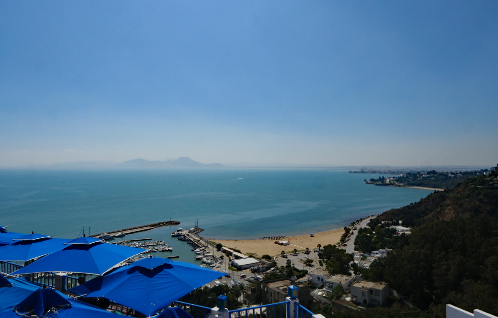 sidi bou said view from cafe de delices
