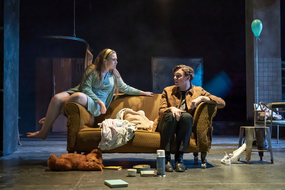 4. Gemma Dobson (Jo) and Stuart Thompson (Geoffrey)_A Taste of Honey_credit Marc Brenner PROD TOUR-2293