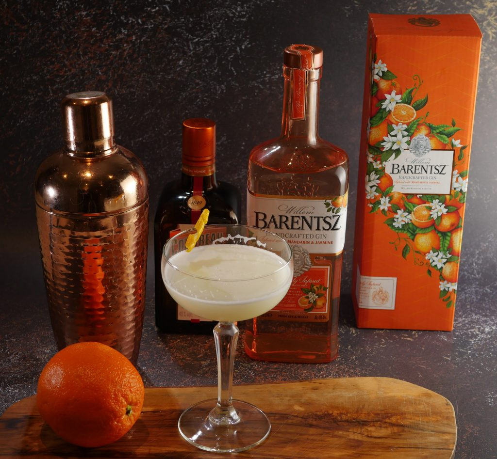 Barentsz Gin and White Lady Cocktail