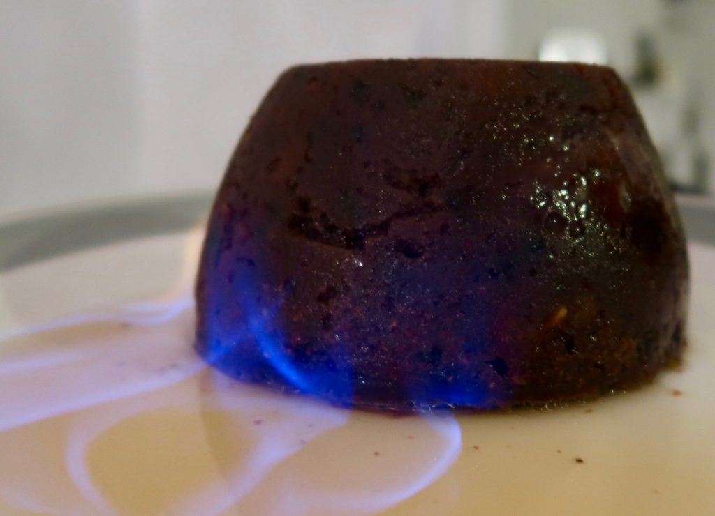 Christmas Pudding Flambe