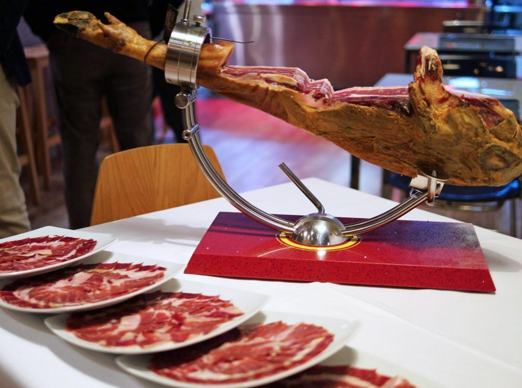 Iberico Ham carving