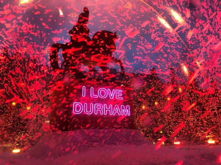 Art installation at Durham Lumiere 2019