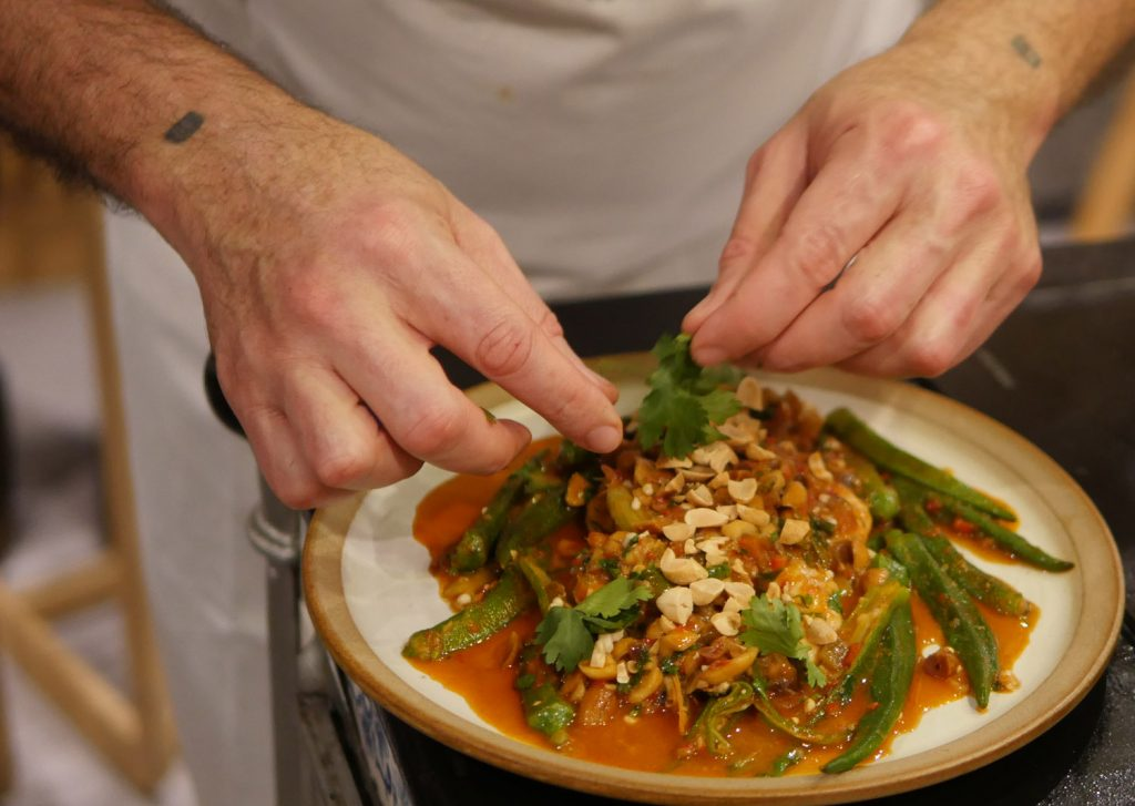 Macanese Curried Prawns with Okra Plating 2