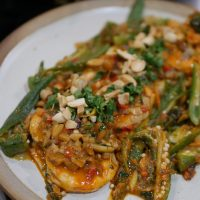 Macanese Cuisine - Curried Prawns with Okra