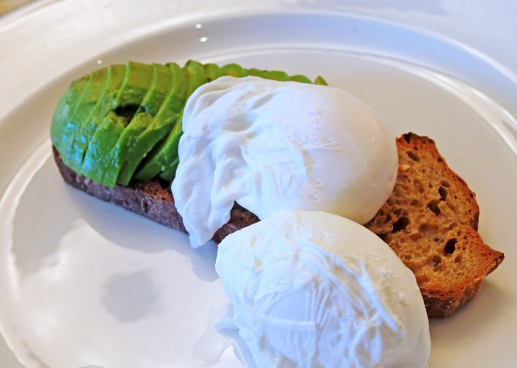 Poached eggs and avo - Angel Abergavenny