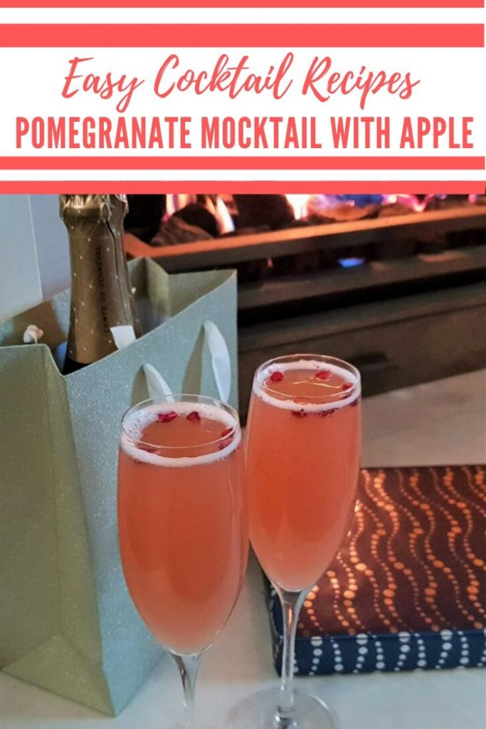 Pomegranate and Apple Mocktail
