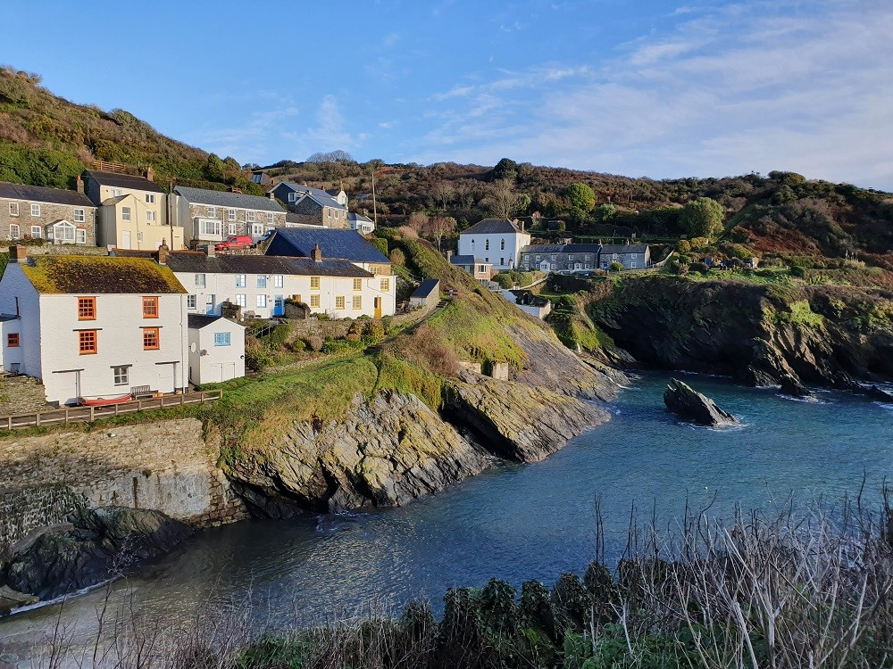 Portloe - December sunshine and calm seas.
