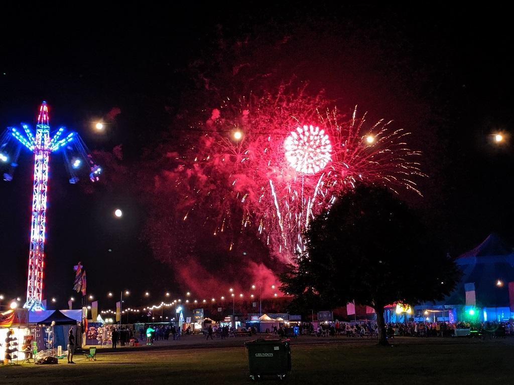 Rewind South Festival Henley on Thames Fireworks