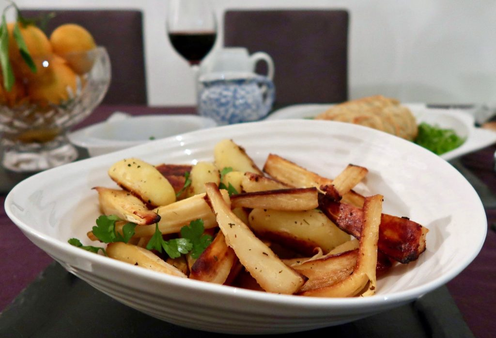 Roast Parsnips and Potatoes - Donald Russell