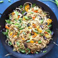 Vegetable Lo Mein Noodles [Easy Asian Noodles!]