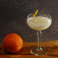 White Lady Cocktail with an Orange Twist