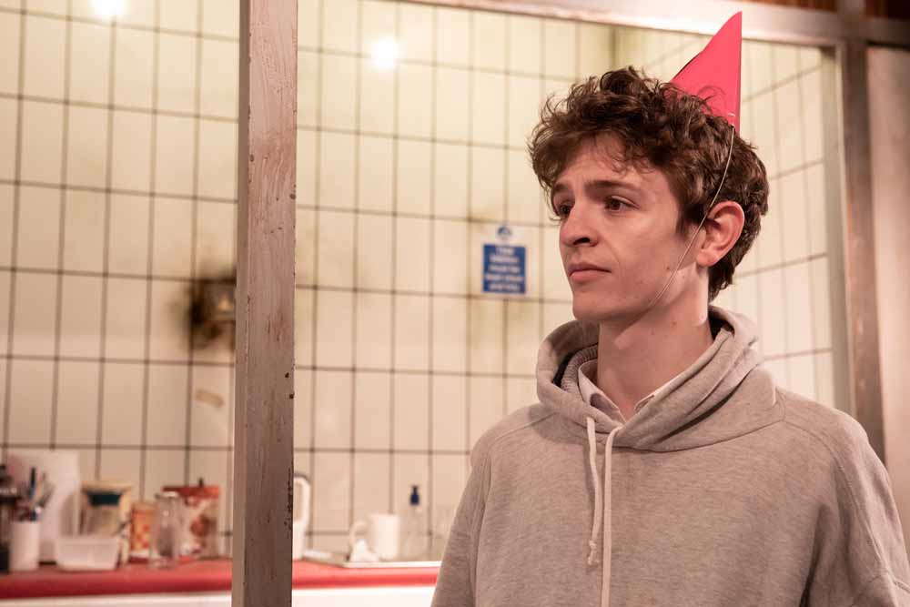 Andrew Finnigan as Joey - You Stupid Darkness Southwark Playhouse