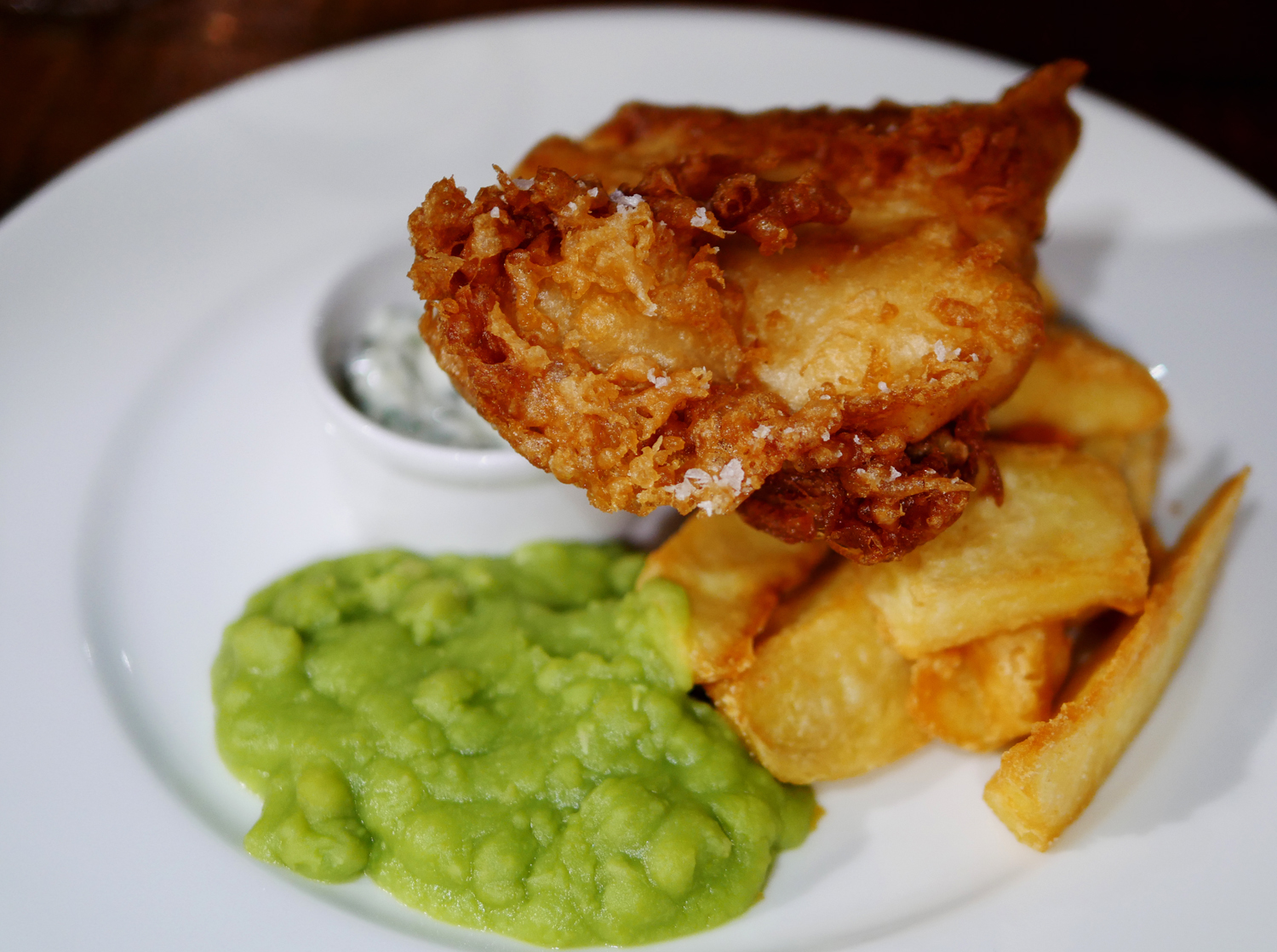 Beer Battered Brixham Pollock - White Swan Fetter Lane
