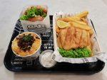 By Chloe - Vegan Fish and Chips, Mac and Cheese and Guac Burger