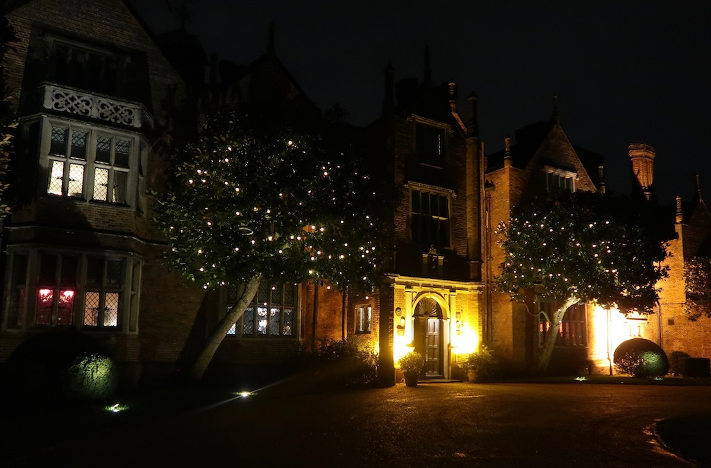 Great Fosters - exterior at night