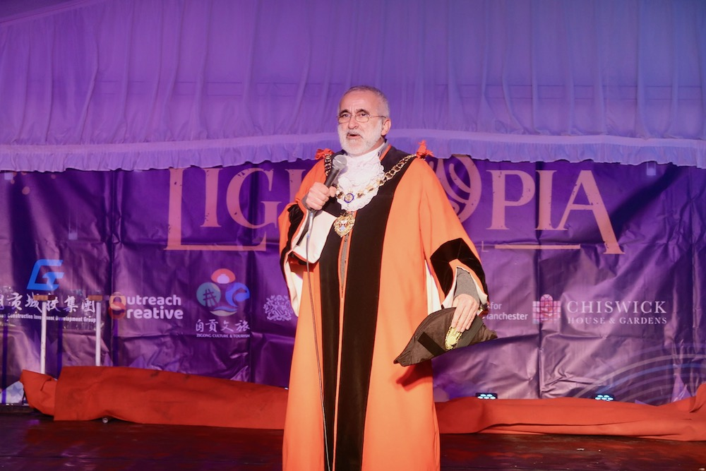 Lightopia mayor of Hounslow opens the show