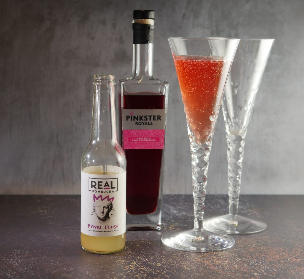 Low Alcohol Raspberry Gin cocktail