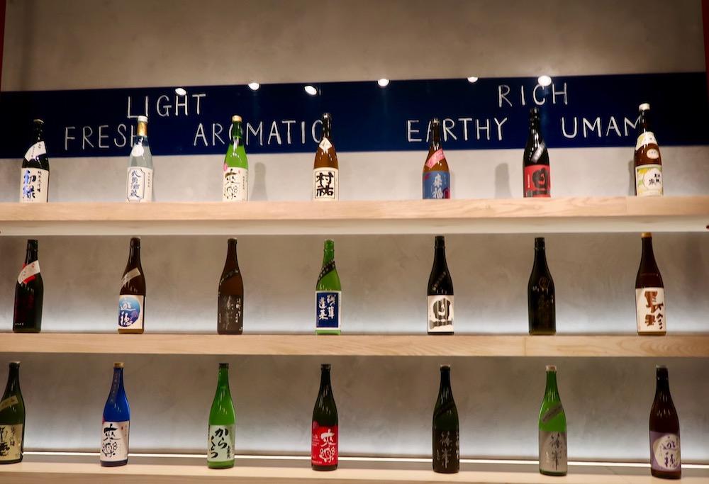 Moto sake bottles