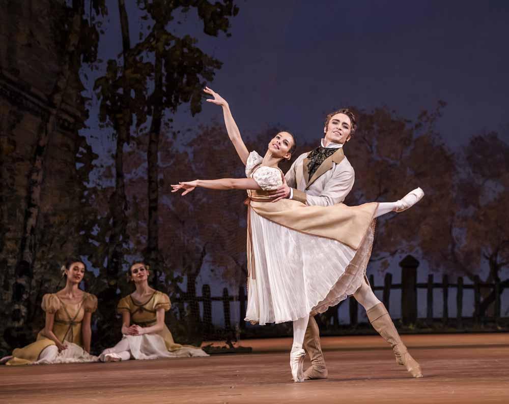 Francesca Hayward - Olga and Matthew Ball, Lensky in Onegin, Royal Ballet at the ROH Feb 2020