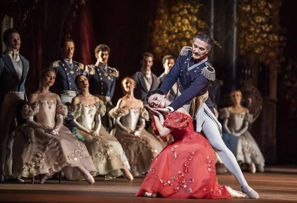 Gary Avis as Prince Gremin and Natalia Osipova as Tatiana in Onegin, Royal Ballet at the Royal Opera House, Feb 2020