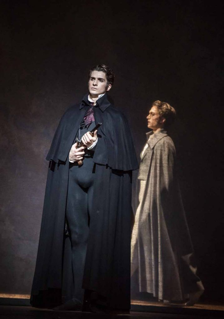 Reece Clarke as Onegin and Matthew Ball as Lensky - Onegin, Royal Ballet at the Royal Opera HOuse, February 2020