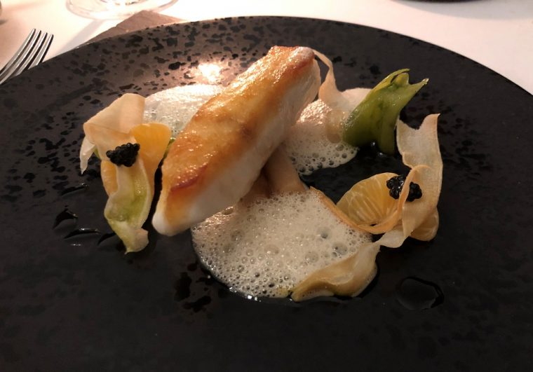 Paschoe house plat of halibut
