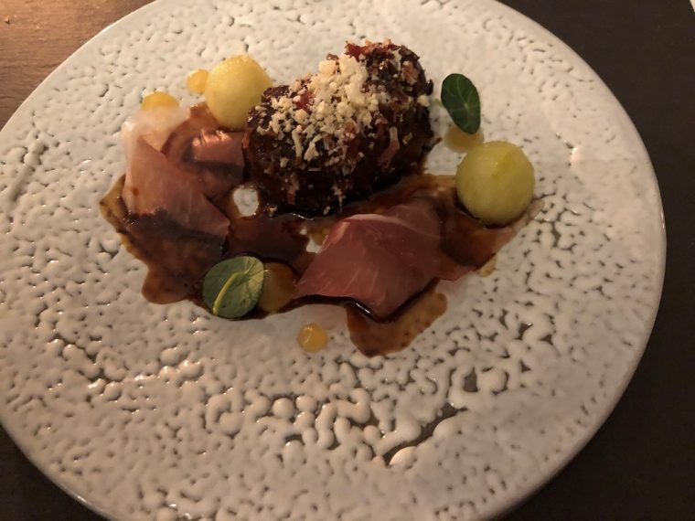 Paschoe House plate of pigs cheeks