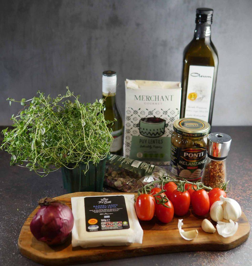 Storecupboard Ingredients - Lentil and Aubergine Stew