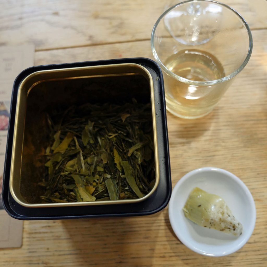 Tea and Artichoke for Pairing with Real Kombucha