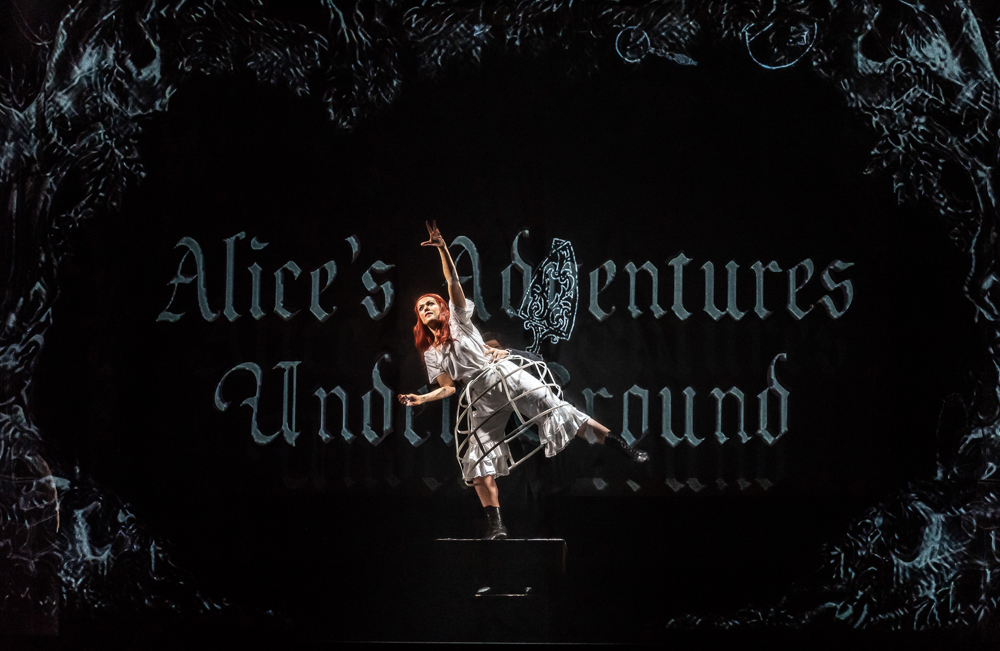 Alice's Adventures Under Ground by Gerald Barry; Royal Opera House; Covent Garden; London, UK; Alice - Claudia Boyle; Conductor - Thomas Adès; Music and Libretto - Gerald Barry; Director - Antony McDonald; Designer - Antony McDonald; Lighting designer - Fabiana Piccoli; Movement director - Lucy Burge; Photo: © ROH photographer CLIVE BARDA;
