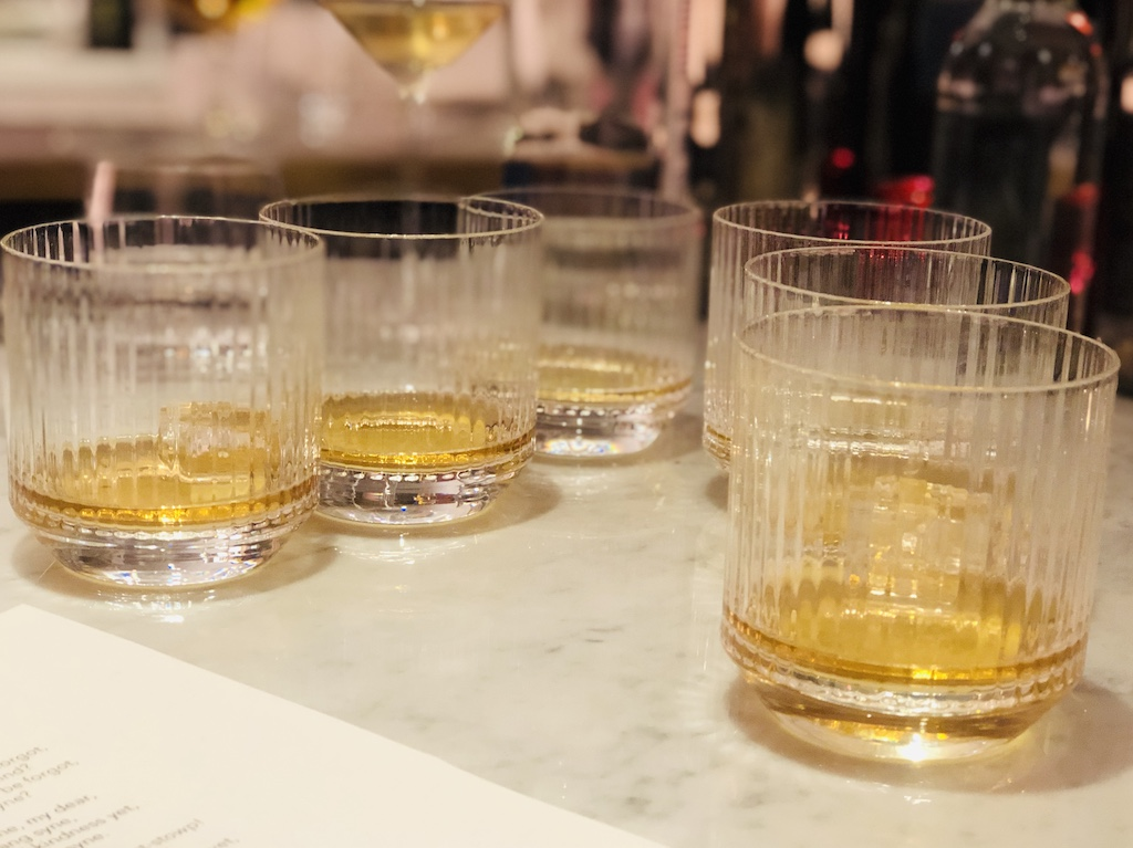 A flight of whiskey