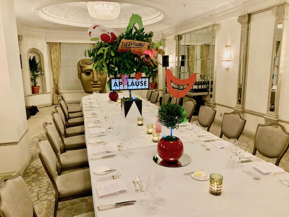 BAFTA dinner Table