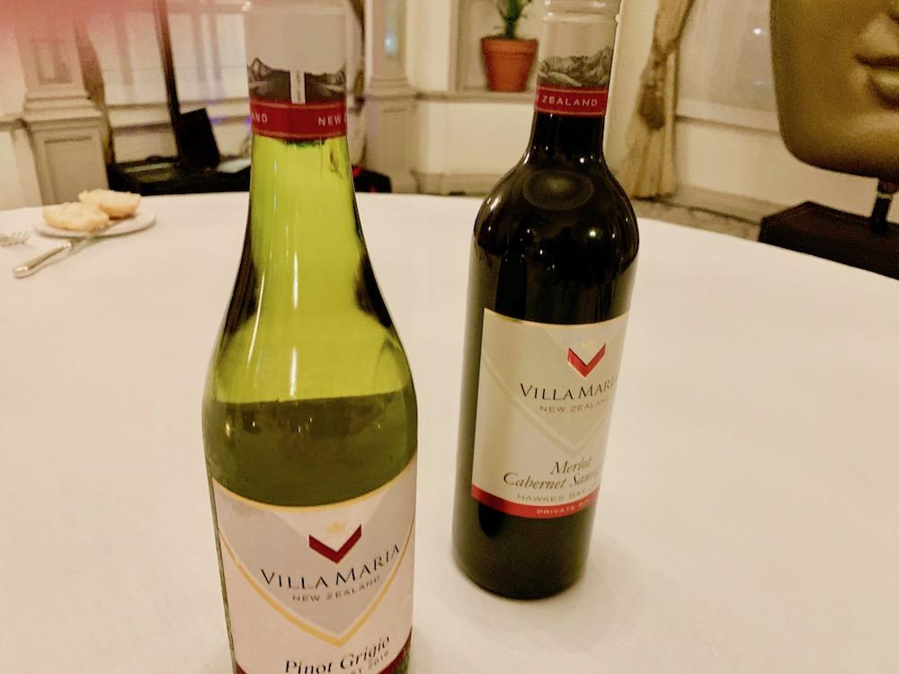 BAFTA dinner villa maria wines