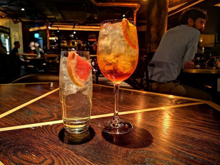 Botanist Broadgate Circle gin aperol