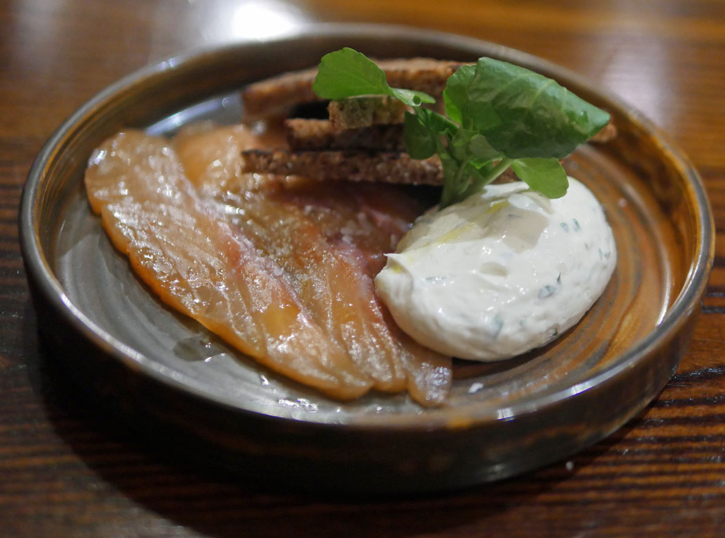 Citrus Cured Salmon with Dill Cream Cheese and Toasted Rye - The White Swan