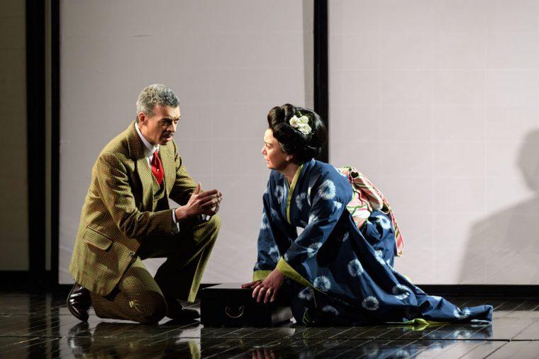 ENO Madam Butterfly - Sharpless (Roderick Williams) and Suzuki (Stephanie Windsor)