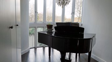 Grand Piano and Wood Floors