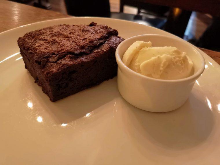 Lamb Tavern chocolate brownie