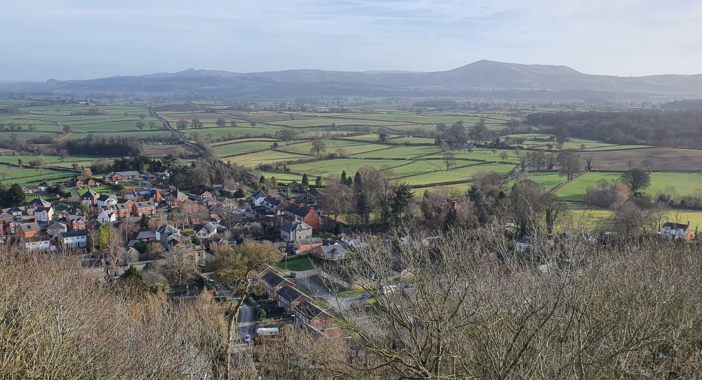 View from Montgomery Castle, Mid Wales